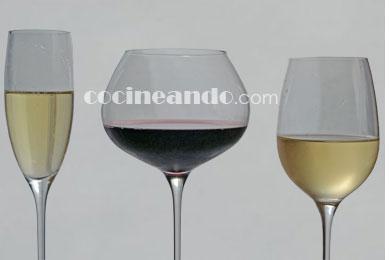 Tipos de copa para vinos tintos, vinos blancos, vinos espumosos y cavas