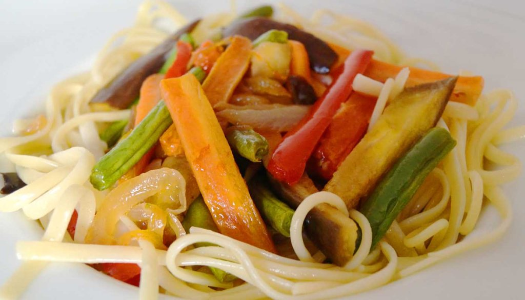 receta de pasta con verdura salteada - recetas de pasta y verduras - recetas realfooding o real food
